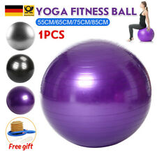 Gymnastikball mit Pumpe Sitzball 55 65 75 85 cm Büroball Fitnessball Ballpumpe