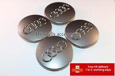 4pcs 68mm ALLOY WHEEL CENTRE HUB CAPS Fits AUDI A3 A4 A6 Q7 S6 S4