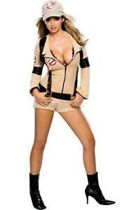 Adult Ghostbuster Ladies Halloween Fancy Dress 1980s Womens Costume Outfit