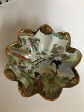 Antique Japanese Dish, Candy Dish, Collectible Hand Painted Bowl