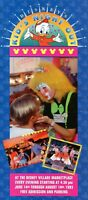 Super Rare 1993 Disney Village Marketplace Kid's Night Out Fold Out Map & Guide