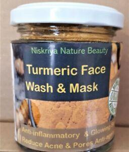 Organic Facial Face wash/ Mask Pack Turmeric & clay skin