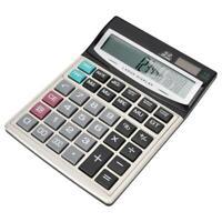 16Digit LCD Office Home Desktop Calculator Large Button Solor&Battery Dual Power