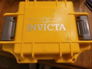 INVICTA Yellow One Slot Watch Empty Box Case Collector Diver Case