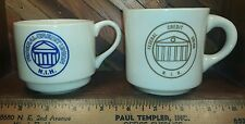 National Institutes of Health Federal Credit Union - Lot of 2 Vintage Mugs