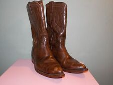 1980's Brown Leather Western Boots Men's Size 8 E by Acme Usa Made (used)