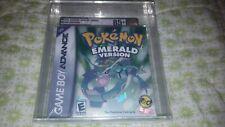 Pokemon Emerald Version Nintendo Game Boy Advance New Sealed Graded Gold VGA 85+