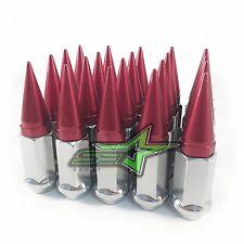 20 CHROME / RED SPIKE LUG NUTS | 12X1.25 | FITS: SUBARU STI  BRZ FR-S WRX