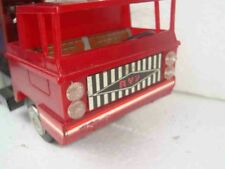 VINTAGE FIRETRUCK ZBIK PUMA POLISH TOY FRICTION TIN METAL PLASTIC RUBBER POLAND