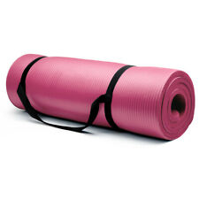 Crown Sporting Goods 15mm Extra Thick Yoga Mat, Pink