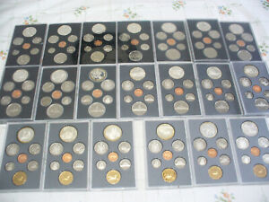 LOT OF 23  CANADA PROOF SETS 1974-1996  .500 & .925  SILVER  DOUBLE  DOLLAR