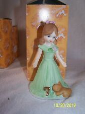 Growing Up Birthday Girls Figurine-Age 7-Brunette In Original Box