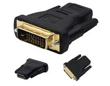 DVI-D (24+1) 25 Pin Male To HDMI Female Adapter Connector Converter Gold