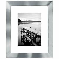 Americanflat Picture Frame Silver Wood for Wall and Tabletop -4x6,5x7,8x10,11x14