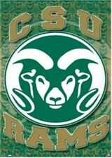 COLORADO STATE RAMS ~ CIRCLE LOGO 22x34 POSTER NCAA CSU University College