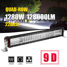 "4ROW 22INCH 1280W LED WORK LIGHT BAR SPOT FLOOD OFFROAD FOG LAMP vs 20'' 23"" 24"""