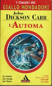 L'autonoma  John Dickson Carr  Mondadori  1998  Prima Edizione