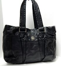 Marc by Marc Jacobs Totally Turnlock Black Leather Baby Diaper Bag Tote