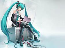 Impresión arte cartel Manga Anime Vocaloid Hatsune Miku Computadora Laptop nofl0046