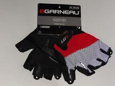 NEW! Louis Garneau Vizzo Gel Men's Cycling Gloves 7D81174 Color Black/Red Small