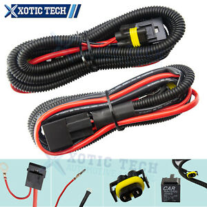 H11 880 Relay Wiring Harness Kit HID Conversion Add On Fog Light LED Work Light