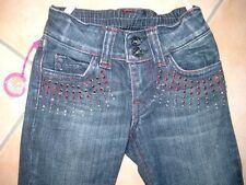 (C453) Nolita Pocket Girls Jeans Hose mega Strass Besatz & Stahl Nieten gr.104