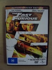 The Fast and the Furious Supercharged Edition R2+4 DVD Vin Diesel Paul Walker