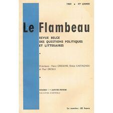 Le FLAMBEAU Paul LÉAUTAUD Françoise SAGAN H. Grégoire Van STRAELEN Milewski 1964