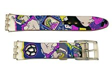 Swatch Replacement 17mm Plastic Watch Band Strap  Art Design