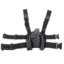 Right Drop Down Tactical Leg Thigh Rig Pistol Gun Holster for Glock 17 19 31 32