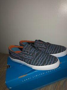 Earl Sweatshirt x Lakai Camby Grey Print Canvas Skate Shoes Size 10 DS