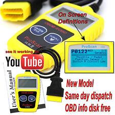Universal CAR OBD2 EOBD CAN Fault Code Reader Scanner diagnostic scan tool UK