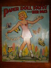 Original Vintage Uncut 1954 Patsy & Her Pals Paper Dolls