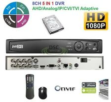 HDTVI Standalone DVR 8CH Channel DVR with 2TB Hard Drive installed, NEW