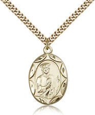 Gold Filled Men's Patron Saint Medal of ST. JUDE - Includes 24 Inch Heavy Cur...