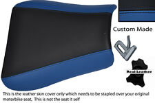ROYAL BLUE & BLACK CUSTOM FITS TRIUMPH 01-05 SPEED TRIPLE 955 i FRONT SEAT COVER