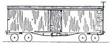"""MstP&Ssm """"Soo"""" Railroad 1888 34' Box Car Ho Unpainted Craftsman Wood Kit Tc2500"""
