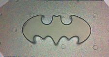 "Small Flexible Plastic Resin Mold Bat Logo 2"" x 1"""