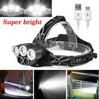 90000LM 5X XML T6 LED Headlamp Rechargeable Head Light Flashlight Torch Lamp