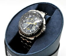 Citizen Eco Drive Blue Angels Skyhawk A-T JY8058-50L Perfect Condition