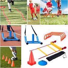 Football Soccer Training Kit Agility Ladder Speed Hurdles Cones Markers Harnes