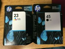 New Genuine Set of 2 HP 45 Black & 23 Tri-color Ink Cartridge C1823D 51645A