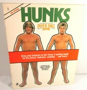 1984 Official HUNKS Paper Doll Book 1st Edition Uncut paperdoll Ed Powers Art