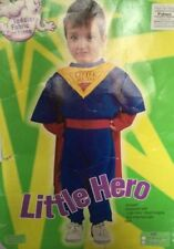 HALLOWEEN COSTUMES REDUCED BOYS CHILDRENS LITTLE HERO AGE 3-4 YEARS CLEARANCE