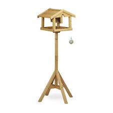 Vogelhaus mit Ständer Futterhaus Vögel mit Futtersilo Vogelfutterstation Holz