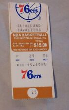 1985 Philadelphia 76ers Vs Cleveland Cavaliers Ticket Stub 2/15/85