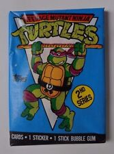 Unopened Pack 1990 Teenage Mutant Ninja Turtles Series 2 TV Show Cartoon Cards