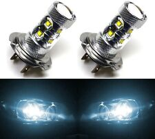LED 50W H7 White 6000K Two Bulbs Head Light High Beam Replace Lamp Show Use