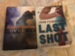 John feinsein Books  Lot of 2 Cover up & Last Shot softcovers home school kids
