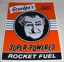 Vtg Style Art Car Truck GRANDPA MONSTERS ROCKET FUEL Rat Hot Rod 50s 60s 70s